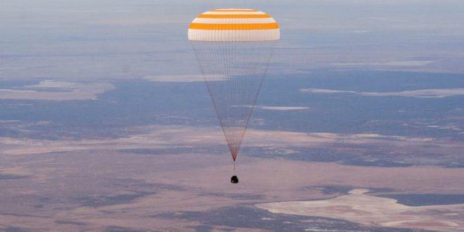 Regresaron a la Tierra tres astronautas después de pasar seis meses en la Estación Espacial Internacional