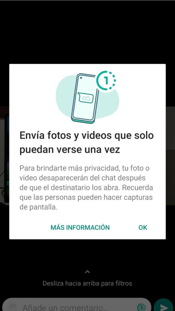 WhatsApp sumó una función para enviar fotos y videos que sólo pueden verse una vez