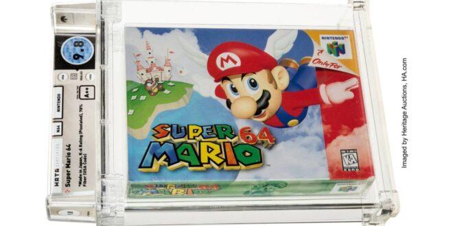 ¡Increíble! Un juego de Super Mario 64 de 1996 sin abrir se vende por 1,56 millones de dólares